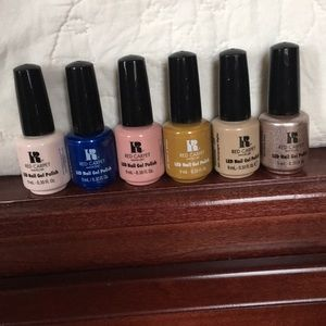 Bundle of 9 gel nail polishes